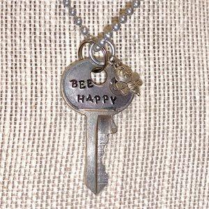 "Jewelry - Handmade jewelry. 24"" necklace BEE HAPPY"